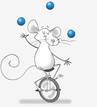 Mouse On Unicycle