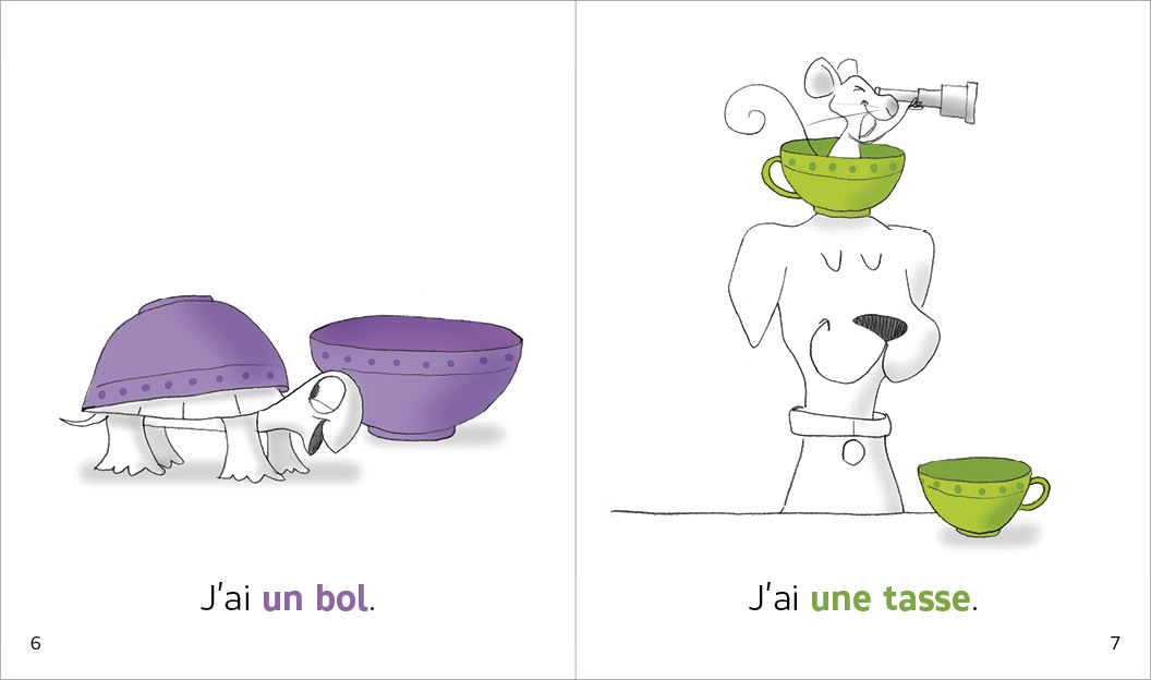 Set2 3 Children French Readers Language Together