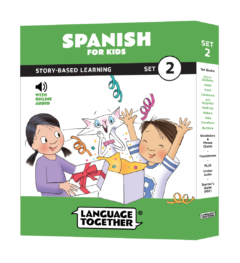 Learn Spanish for Kids: 10 Reader Books with Audio